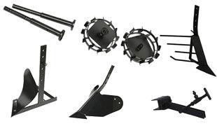 Комплект насадок для FJ500 (грунтозацепы, удлинитель, плуг, картофелевыкапыватель, окучник, сцепка) в Кузнецке